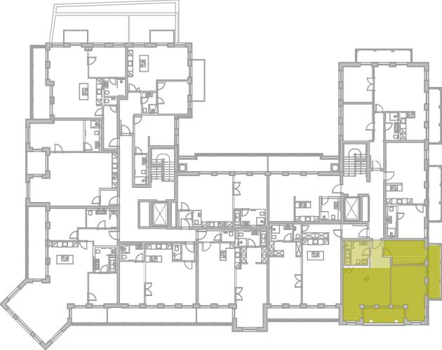Lageplan Appartement 32