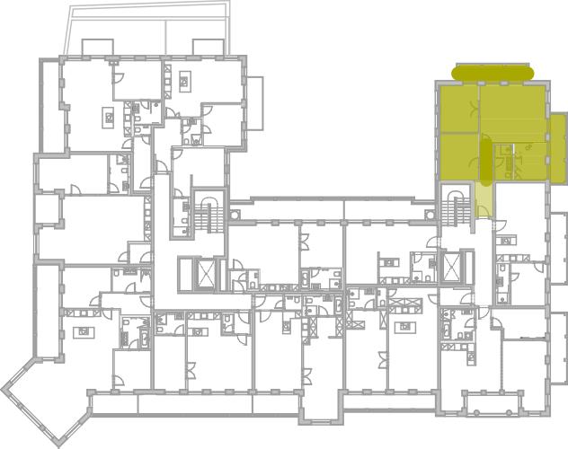 Lageplan Appartement 34